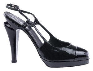 Chanel Patent Leather Heels Green Pumps
