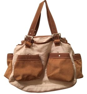 Desmo Tote in cream & tan
