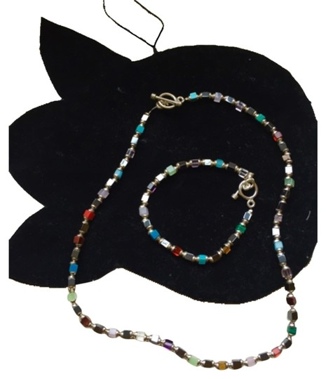 Preload https://item5.tradesy.com/images/multi-color-beaded-and-bracelet-set-necklace-10242844-0-1.jpg?width=440&height=440