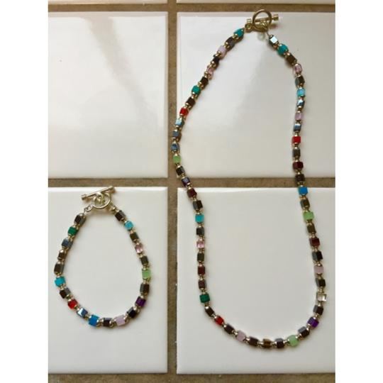 Thailand designer Beaded necklace and bracelet set