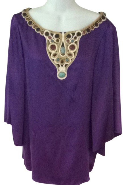 Preload https://item1.tradesy.com/images/catherine-malandrino-purple-cleopatra-tunic-size-10-m-1024300-0-0.jpg?width=400&height=650