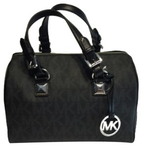 Michael Kors Grayson Black Sale Clearance Satchel