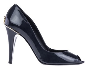 Chanel Patent Leather Heels BLUE Pumps