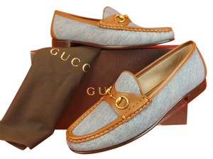 Gucci Loafers Blue Sand/Cuir Flats