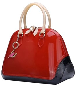 SABOHEMIAN Satchel in Red/Beige/Black