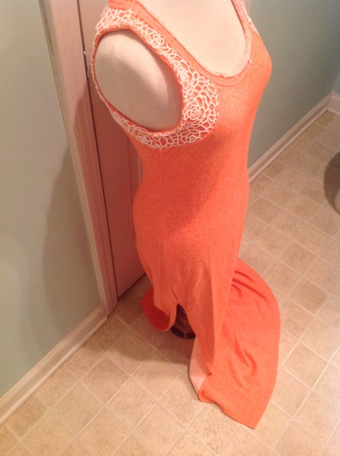 Coral/Cream Maxi Dress by Guess