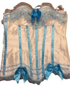 corset Top White And Blue