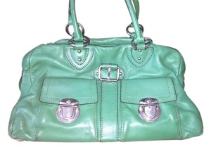 Marc Jacobs Leather Silver Hardware Tote in Kelly Green