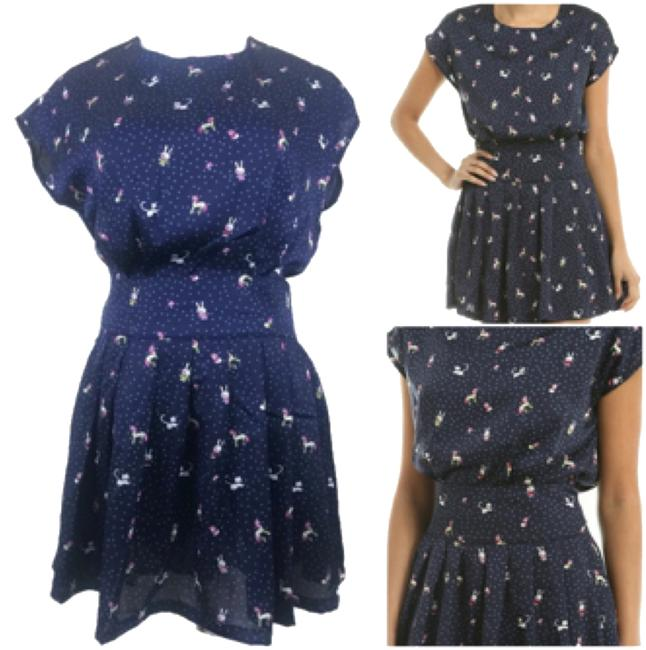 Preload https://item3.tradesy.com/images/moon-collection-blue-animal-print-mini-short-casual-dress-size-8-m-10244467-0-1.jpg?width=400&height=650