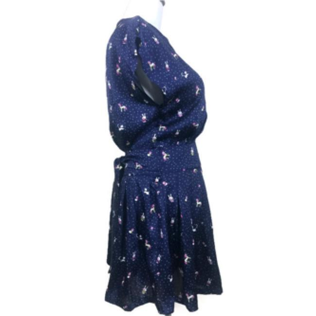 Moon Collection short dress Blue on Tradesy