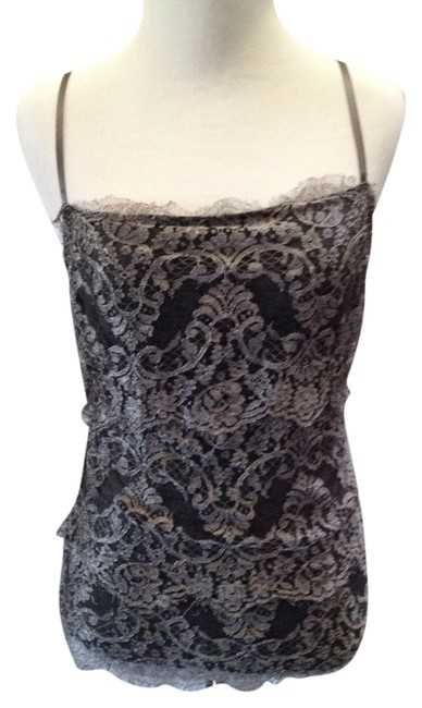 Ralph Lauren Black Label Lace Chic Soft Top Gray