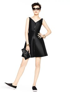 Kate Spade Zipper Zip Lbd Dress