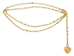 Chanel CHANEL VINTAGE GOLD CHAIN HEART CHARM BELT