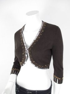 Cache Sequin Beaded Sweater