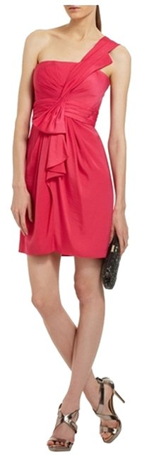 Preload https://item2.tradesy.com/images/bcbgmaxazria-pink-palais-one-shoulder-above-knee-cocktail-dress-size-6-s-10245376-0-1.jpg?width=400&height=650