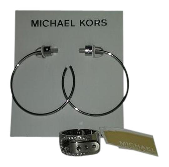 Preload https://item3.tradesy.com/images/michael-kors-2-piece-listing-crystal-buckle-7-or-8-and-slender-hoop-earrings-ring-10245427-0-4.jpg?width=440&height=440