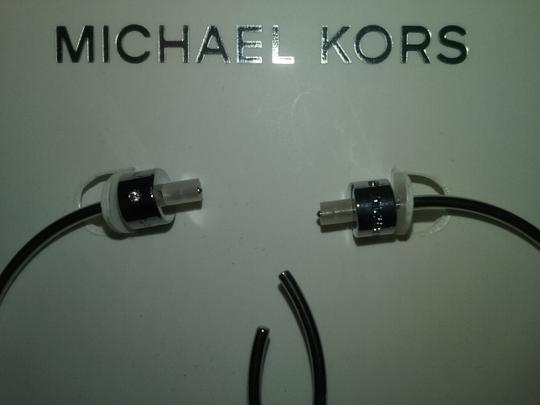 Michael Kors 2 Piece listing Crystal Buckle Ring (7 or 8) & Slender Hoop Earrings