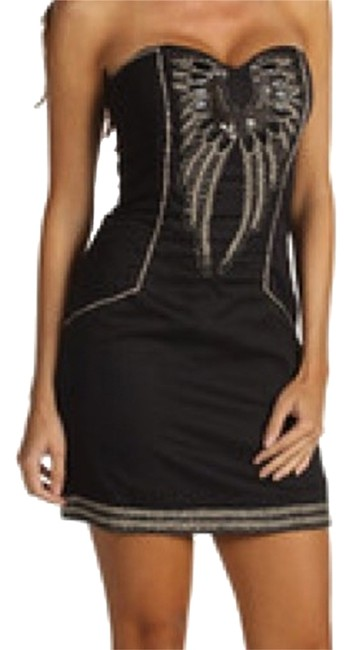 Preload https://item1.tradesy.com/images/french-connection-black-cotton-mini-night-out-dress-size-0-xs-10245475-0-1.jpg?width=400&height=650