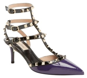 Valentino Rockstud Studded Spike Purple Pumps