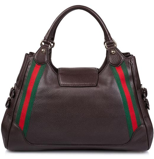 Gucci Leather Excelent Condition Tote in dark brown