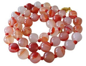 Other Natural Red Agate Gemstone Necklace