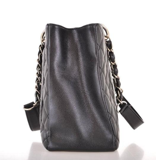 Chanel Shoulder Leather Tote in Black