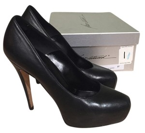 Brian Atwood Leather Maniac Black Pumps