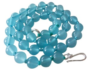 Other Natural Blue Jade Gemstone Necklace