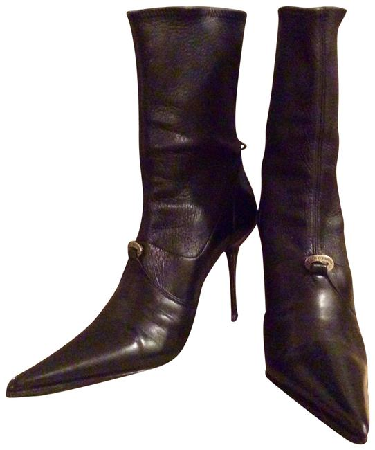 Gianmarco Lorenzi Black W Leather Ankle W/ Metal Heel Boots/Booties Size EU 34.5 (Approx. US 4.5) Regular (M, B) Gianmarco Lorenzi Black W Leather Ankle W/ Metal Heel Boots/Booties Size EU 34.5 (Approx. US 4.5) Regular (M, B) Image 1