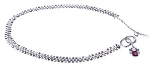 Chanel CHANEL DARK SILVER MULTICOLORED RHINESTONE CC BELT