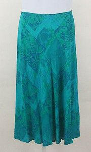 Carole Little 12p B236 Skirt Aqua Green
