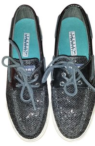 Sperry Black Sequin Flats