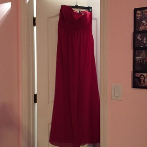 Bill Levkoff Cranberry Cranberry Chiffon Dress
