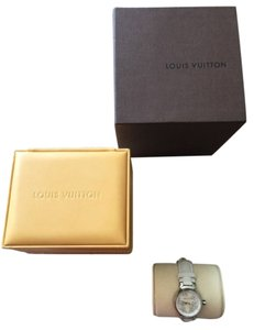 Louis Vuitton RARE Louis Vuitton Lovely Flowers Tambour Watch Mother Of Pearl Face Leather Strap Silver Fleur Fleurs
