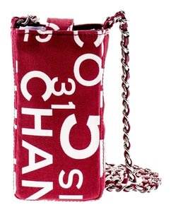 Chanel Chanel Rue Cambon Red Cell Phone Holder