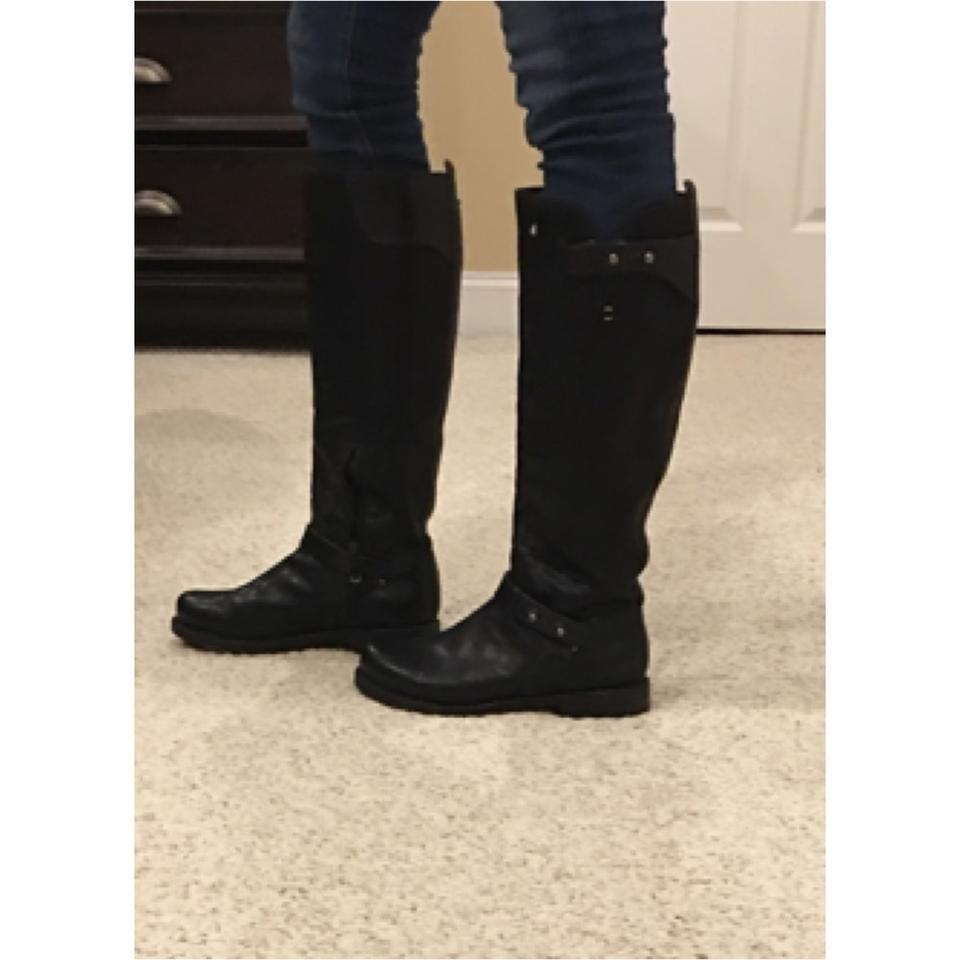 cheap prices release date: men/man Rag & Bone Black Knee High Moto Boots/Booties Size EU 36 (Approx. US 6)  Regular (M, B)