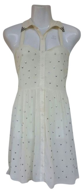 Preload https://item5.tradesy.com/images/millau-beige-new-stars-metallic-embellished-button-up-short-casual-dress-size-8-m-10247629-0-1.jpg?width=400&height=650