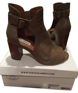 Steve Madden Open Toe Taupe Boots