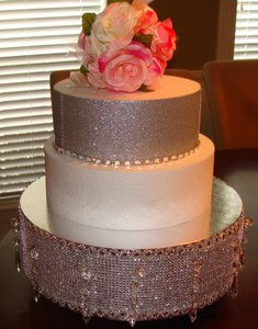 Silver Bling Custom Made Cake Stand