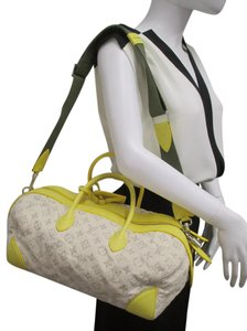 Louis Vuitton Denim Yellow Leather Shoulder Bag
