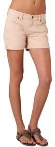 Madewell Summer Pink Blush Denim Cuffed Shorts Blush Pink