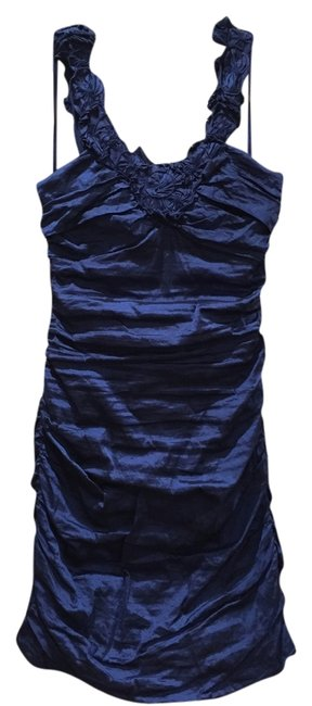 Preload https://img-static.tradesy.com/item/10249018/bcbgmaxazria-cobalt-ruched-above-knee-cocktail-dress-size-10-m-0-1-650-650.jpg