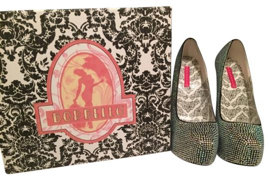 Bordello Bling Sparkly Sexy Statement Never Worn Box Dust Bags Extra Crystals Platforms