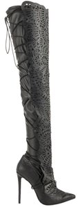 Preload https://item2.tradesy.com/images/lust-for-life-black-snake-embossed-cutout-thigh-high-bootsbooties-size-us-8-regular-m-b-10249276-0-3.jpg?width=440&height=440