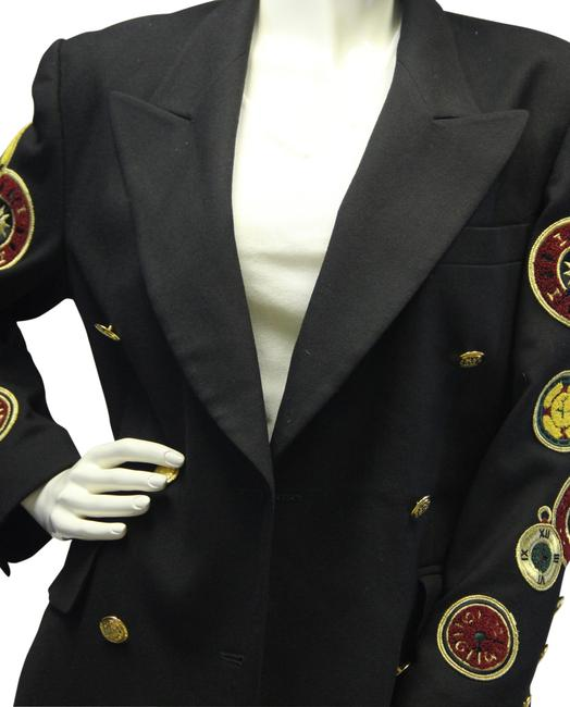 Escada Rare Collectible Clock Patches 1980's Vintage Jacket Blazer