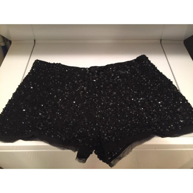 AllSaints Black Bronze Ice Sequins Raw Hem Hidden Zipper Hand Embellished Sexy Chic Eye Catching Never Worn Extra Sequins Mini/Short Shorts