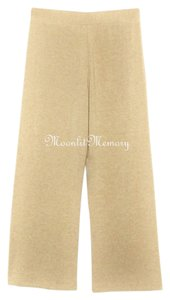 Soft Surroundings Wide Legs Slacks Tan Wide Leg Pants Tan, Camel