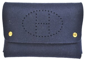 Hermès Navy Clutch