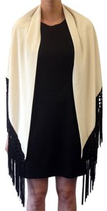 Other IVORY & BLACK TASSEL TRIANGULAR SHAWL