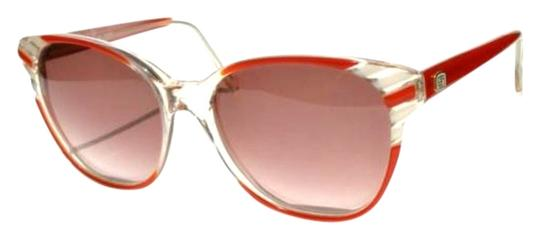 Emilio Pucci Authentic Vintage Emilio Pucci Opaque White + Red Oversized Style Sunglasses